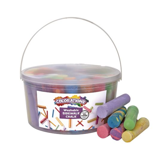 Image of Colorations Washable Sidewalk Chalk - 50 Pieces