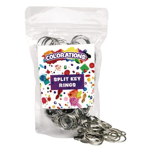 Colorations® Split Key Rings - 144 Pieces