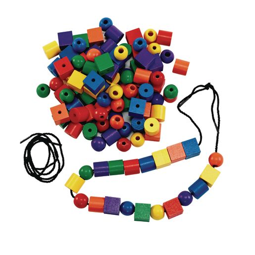 Excellerations® Wooden Lacing Beads - 108 Pieces