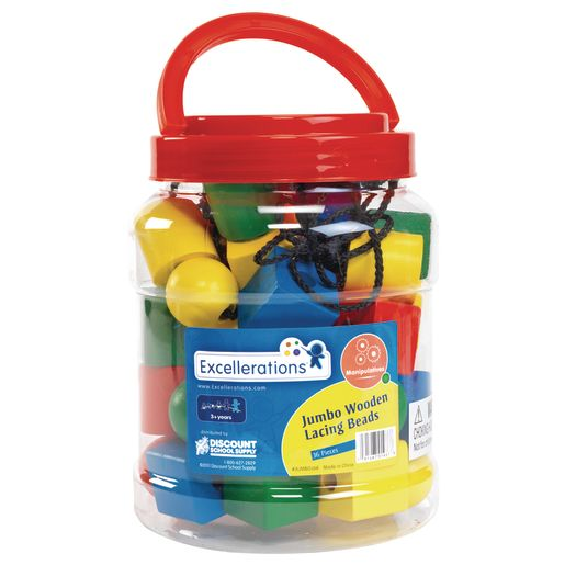 Excellerations® Jumbo Lacing Beads - 36 Pieces