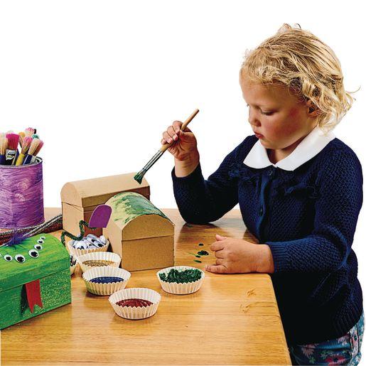 Colorations® Decorate Your Own Papier-Mâché Treasure Chests - Set of 12