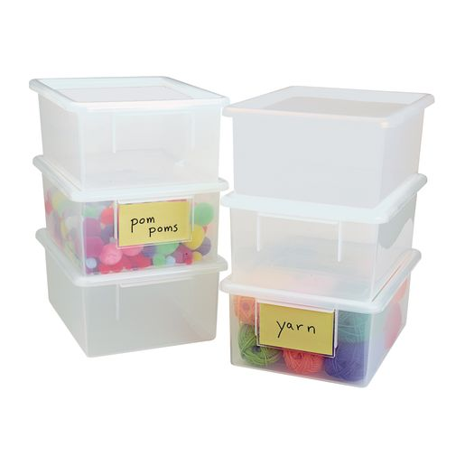 Clear Easy-Label Teaching Tote