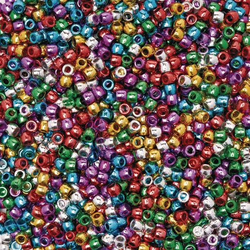 Image of Colorations Metallic Pony Beads - 1 lb.