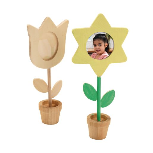 Colorations® Wooden Flower Pot Frames - Set of 12