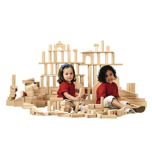 170 Rubber Wood Blocks, 21 Shapes