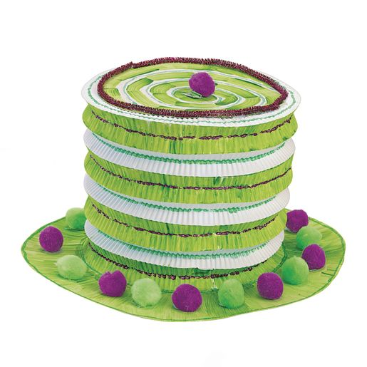Colorations® White Paper Top Hats - Set of 12_0