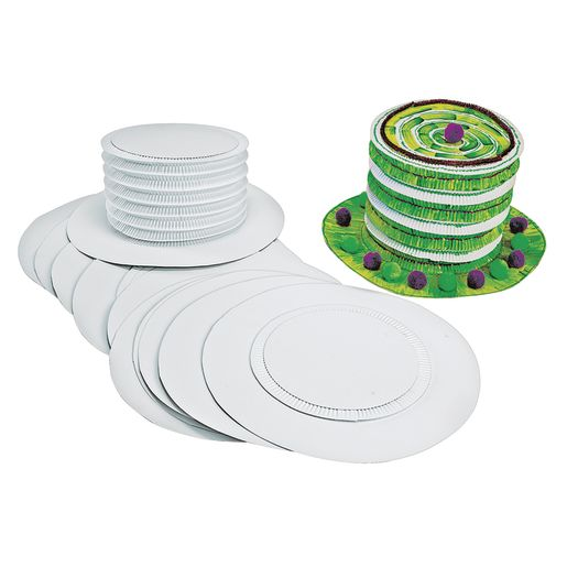 Colorations® White Paper Top Hats - Set of 12_1