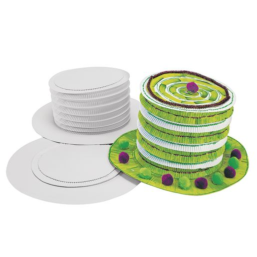 Colorations® White Paper Top Hats - Set of 12_2
