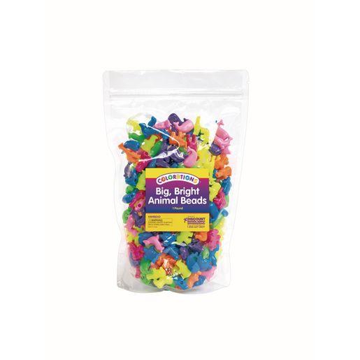 Colorations® Big, Bright Animal Beads - 1 lb.