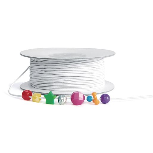 Colorations® White Beading Elastic - 100 Yards
