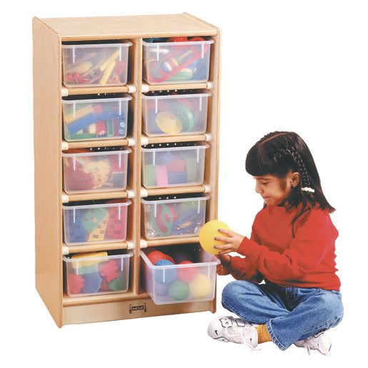 10-Cubbie Mobile Storage - Without Trays