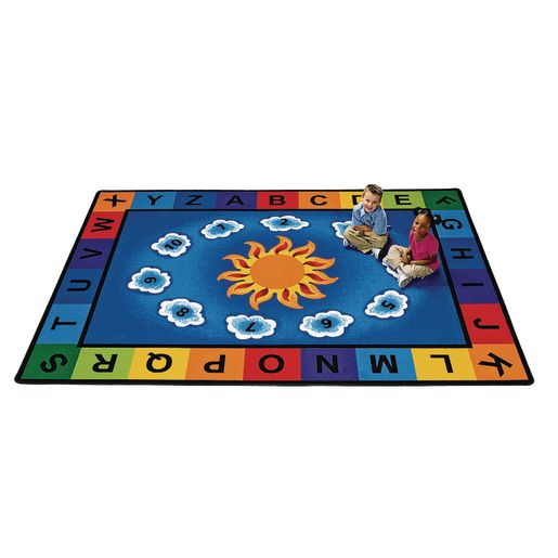 "Sunny Day Learn and Play 4'5"" x 5'10"" Rectangle Premium Carpet"