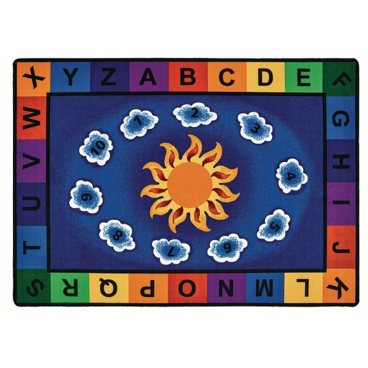 "Sunny Day Learn and Play 5'10"" x 8'4"" Rectangle Premium Carpet"