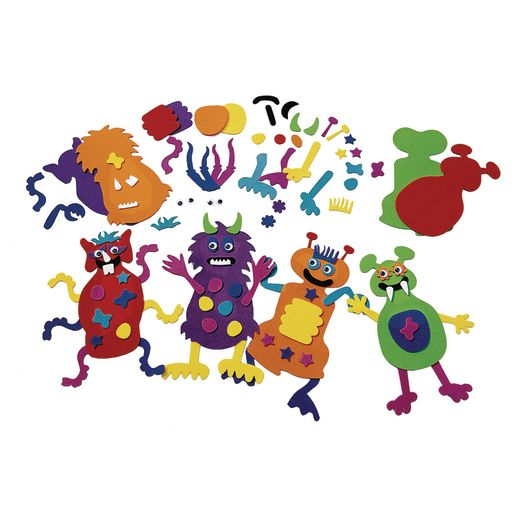 Colorations® Monstrous Monster-Making Craft Kit - Kit for 12_0