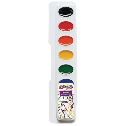 Colorations® Regular Best Value Watercolor Paints - Set of 6 Refills, 8 Colors ea