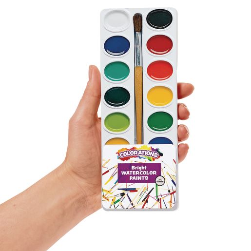 Colorations® Best Value Washable Watercolors, 16 Color - Set of 6 Refills