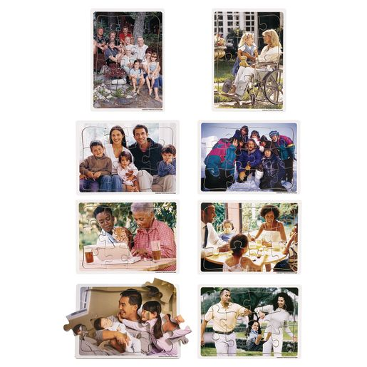 Image of Excellerations Multicultural Family Puzzles - Set of 8