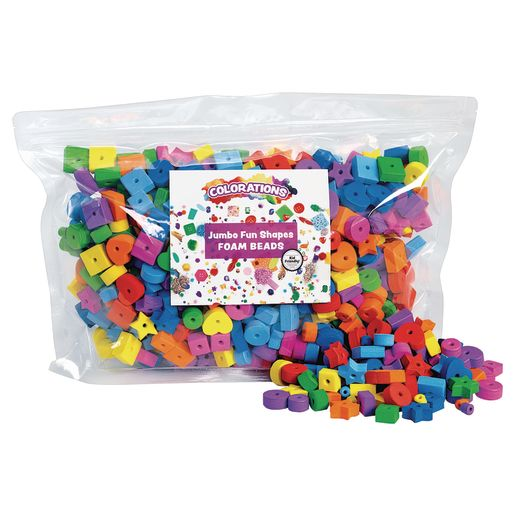Colorations® Jumbo Fun Shapes Foam Beads - 500 Pieces_1