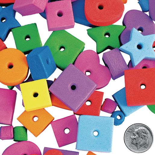 Colorations® Jumbo Fun Shapes Foam Beads - 500 Pieces_3