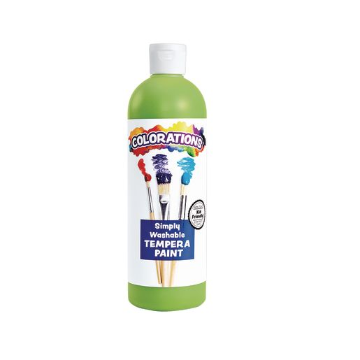 Image of Colorations Apple Green Simply Washable Tempera, 16oz.