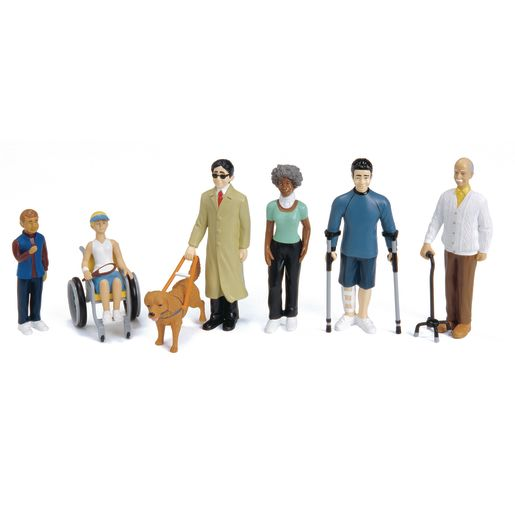 Image of Differently-Abled Block Play Figures - Set of 6