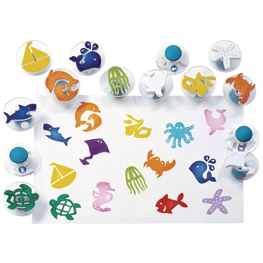 Colorations® Easy-Grip Stampers, Sea Life - Set of 14