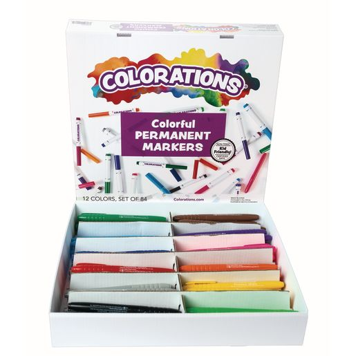 Image of Colorations Permanent Marker Classroom Pack - 84 Pieces