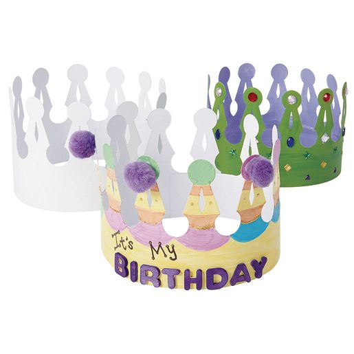 Colorations® Decorate Your Own Crowns - Set of 24_2