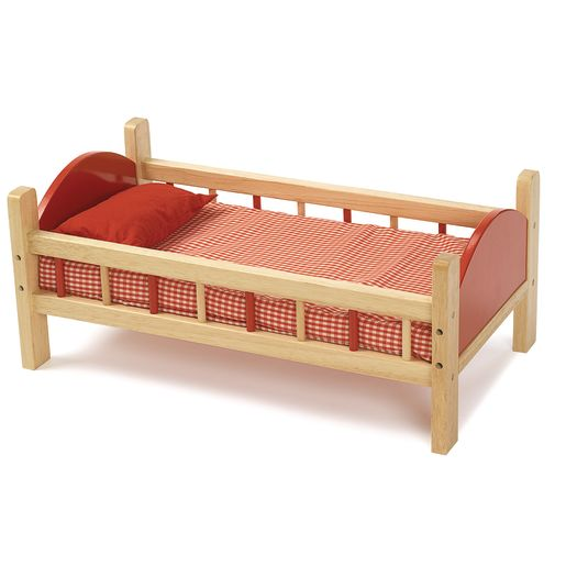 "Wooden Doll Bed - 21-3/4""L"