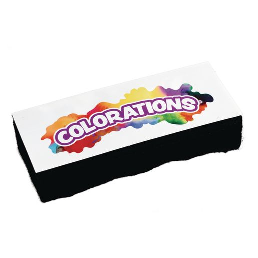 Colorations® Dual Use Dry Erase/Chalkboard Eraser - Set of 10