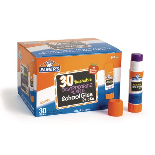 Image of Elmer's .24 oz. Purple Glue Stick - Set of 30