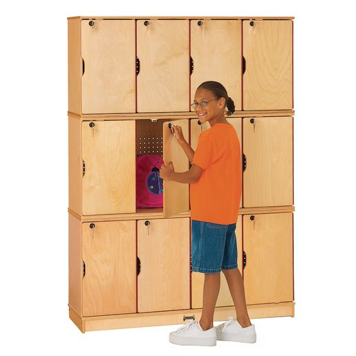 Stacking Lockable Lockers- 4 Sections - 3 Levels
