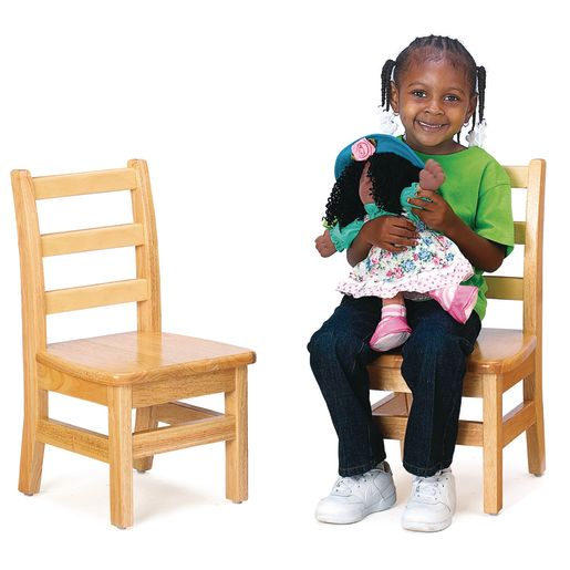 "12"" Assembled KYDZLadderback Chairs™ - Set of 2"
