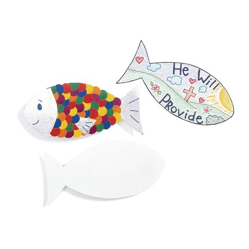Image of Card Stock Fish Shapes - 24 Pieces