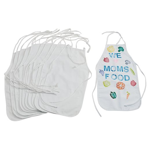 Colorations® Blank Canvas Aprons Set of 12