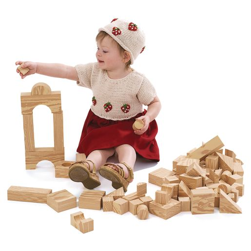 Excellerations® Foam Wooden Blocks - Set of 80