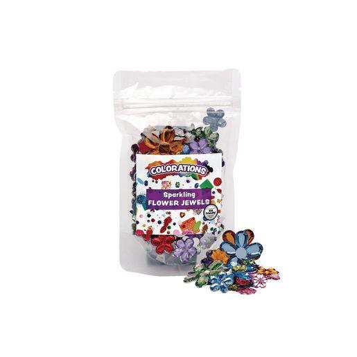 Colorations® Sparkling Flower Jewels - 300 Pieces