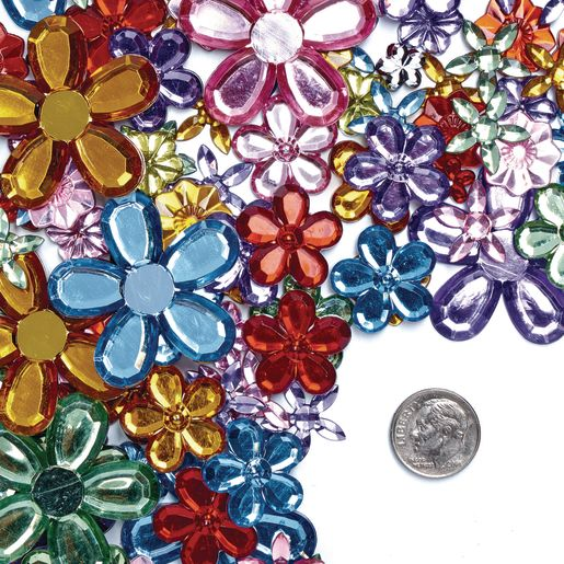 Colorations® Sparkling Flower Jewels - 300 Pieces