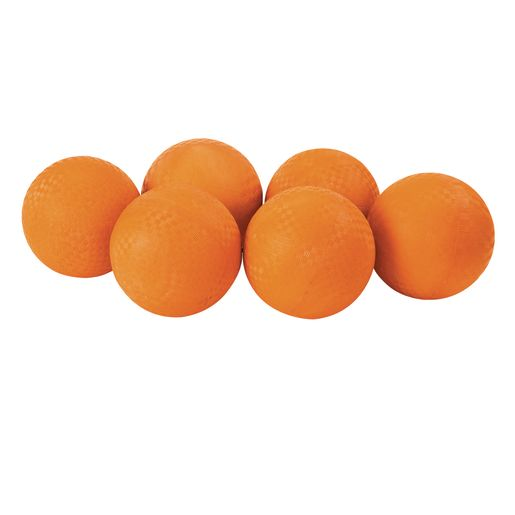 "6""Dia. Orange Best Quality Rubber Playground Balls - Set of 6"