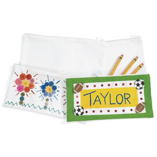 Colorations® Canvas Pencil Bags - Set of 12
