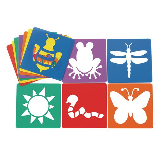 Image of Colorations Garden Stencils - Set of 12 Designs