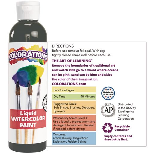 Colorations® Glitter Liquid Watercolor™, Turquoise - 8 oz.