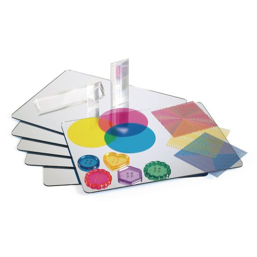Excellerations® Acrylic Mirror Trays - Set of 6