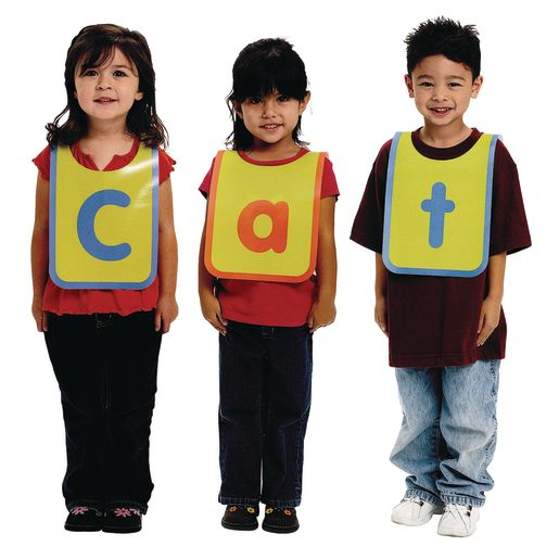 Interactive Letter Vests - Set of 32