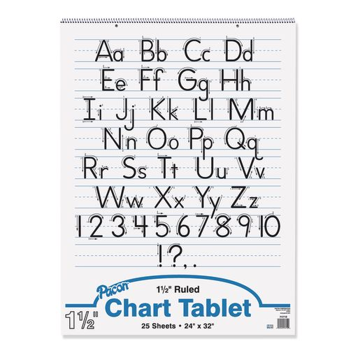 Blue Ruling Chart Tablet - 25 Sheets