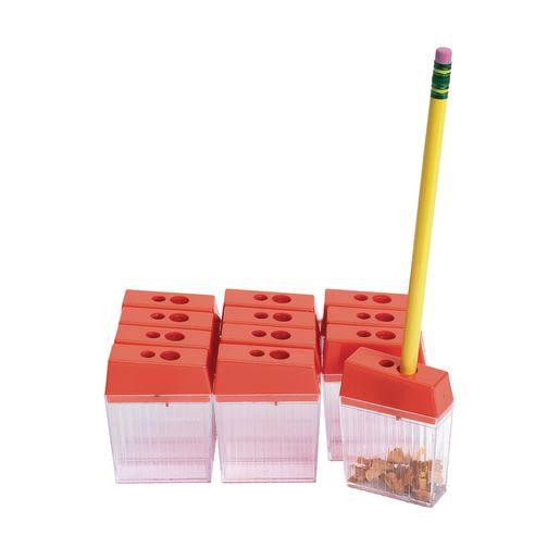 Set of 12 Pencil Sharpeners for Regular and Jumbo Pencils