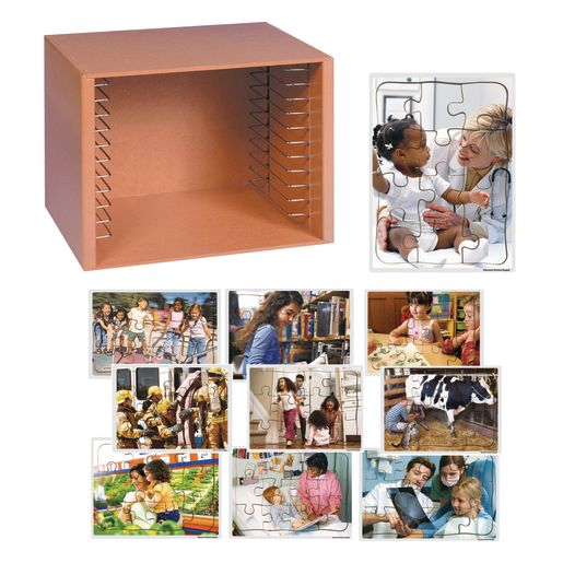 Community Puzzles & Rack Set - Set of 12