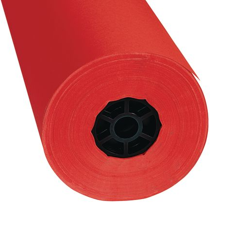 """Colorations® Dual Surface Paper Roll, Flame Red, 36"""" x 1000'"""