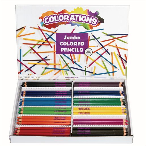 Image of Colorations Jumbo Colored Pencils - Set of 120