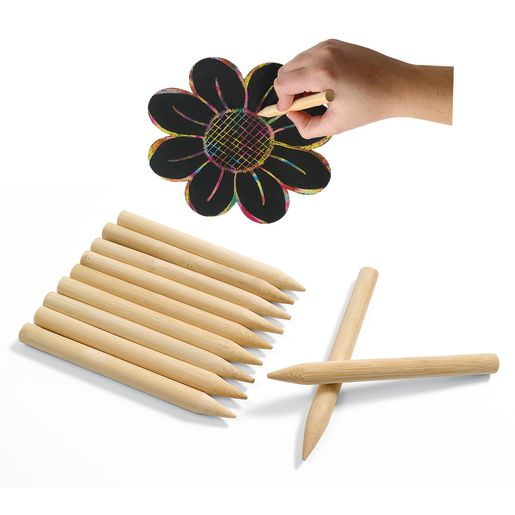 Colorations® Scratch Designs Jumbo Wooden Art Sticks - Set of 48